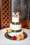 3 tiered 55th wedding anniversary cake
